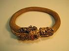 A Vintage Chinese Silver Gold Wash Bracelet / Bangle