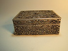 19th C. Chinese Export Silver Filigree Box