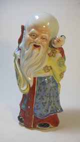 Early 20th C. Chinese Famille Rose Porcelain Figure MK