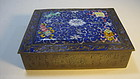 A Beautiful Early 20th C. Chinese Enamel Bronze Box