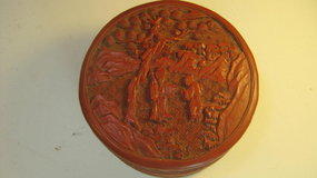 19th C. Chinese Red Cinnabar Lacquer Box