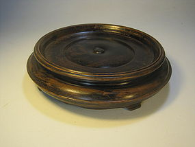 A Beautiful 19th C. Chinese Hard Wooden Stand Heavy