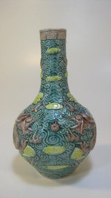Late 19th/20th C. Chinese Polychrome Porcelain Bottle