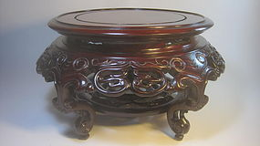 A Beautiful Large Vintage Chinese Wood Stand