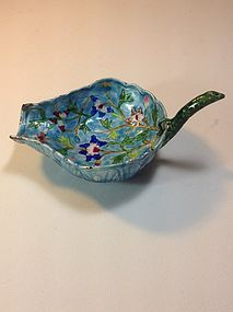 A Beautiful Late 19th C. Chinese Canton Enamel Ladle