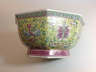19th C. Chinese Famille Rose Porcelain Bowl With Daoguang Mark