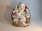 Mid 20th C. Chinese Large Size Porcelain Famille Rose Buddha