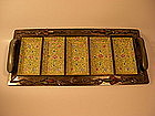 A Fine Late 19th C Chinese Enamel Sweetmeat Tray
