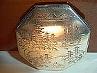 Early 20th C. Chinese Sterling Silver Compact