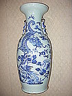 A Chinese Antique Blue & White Dragon Vase