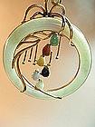 A Beautiful Chinese 14K Gold Jade Pendant