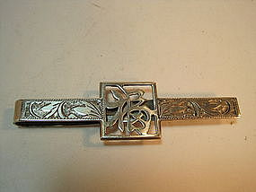 Very Nice 20th C. Chinese Sterling Silver Tie Pin