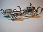 A Beautiful 19th C. Chinese Silver Teapot set