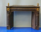 American Federal Cast Iron and Brass Fireplace Insert