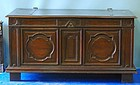 17th Walnut Continental Walnut Coffer