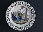 French Ceramic Commemorative Plate, 19th C.
