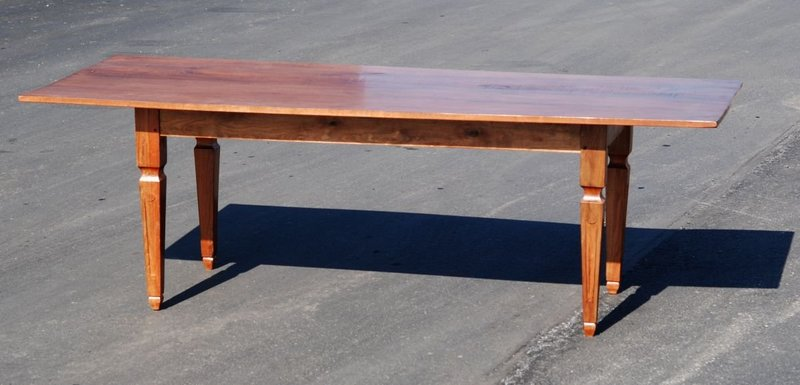 French Provincial-Style Walnut Farm Table