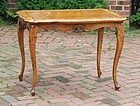 Continental Walnut and Inlaid Tea Table, mid-18th C.