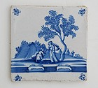 Dutch Blue and White Tile, 17th/18th C.
