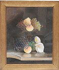 J. Bower, American Pastel Still Life, 19th C