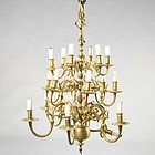 Dutch Brass Fixture,  in 17th C style