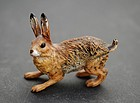 Painted Bronze Figure of a Hare, late 19thC