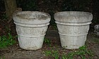 Pair of Cast Stone Flower Pots, 20thC