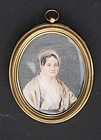 American Portrait Miniature of a Lady, circa 1900