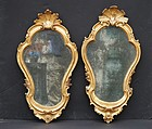 Pair of Italian Giltwood Mirrors, circa 1750-65