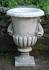 Carved Marble Campana Urn, 20thC.