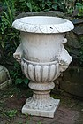 Carved Marble Campana Urn, 20thC