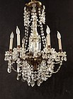 Louis XVI-Style Cut Glass Fixture, early 20thC.