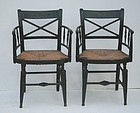 Pair of Federal Painted Fancy Armchairs, circa 1815