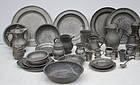 Large Group of Pewter, English and Continental, 18thC