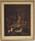 American School Hunt Painting of an Interior, 19thC