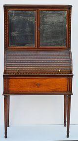 Dutch  Satinwood Inlaid Secretaire, Circa 1790
