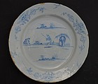 Delft Charger, Likely English, early 18th C.