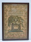 American Needlework Sampler, M. Ridder, 1817