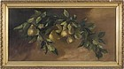 American School Still Life of Pears, circa 1890