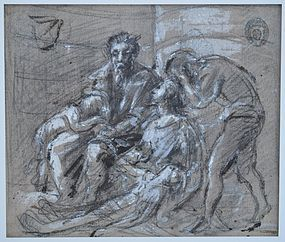 Flemish School Drawing, 17th/18thC