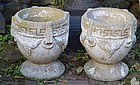 Pair of Cast Stone Garden Pots, 20th C