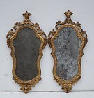 Pair of Italian Carved and Gilt Mirrors, 18thC