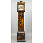 George III Chinoiserie Decorated Tall-Case Clock