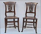Set of Four French Cherrywood Side Chairs, 19thC