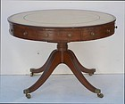 George III Mahogany Drum Table, circa 1810