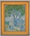 American School Impressionist Painting, circa 1910