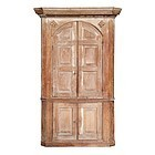 English Pine Carved Corner Cupboard, late 18thC