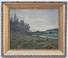 Barbizon Landscape Painting, prob. American, circa 1890