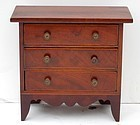 Federal Mahogany Miniature Chest, circa 1810