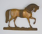 Brass Wall Mount of a Horse, Early 20th C.